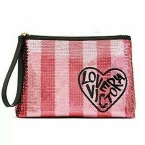 NWT!!! 🌸 Victoria's Secret Sequin Cosmetic Bag 🌸